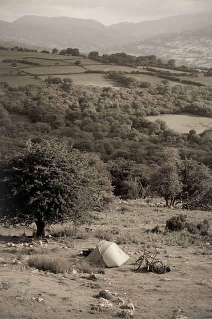 Wild camping in the Brecons.