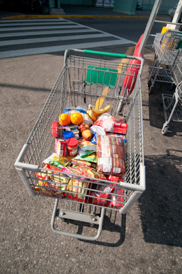 10 days of food for two hungry cyclist = a lot of weight.