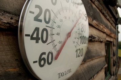 Come winter, it can get a touch chilly in the Alaskan bush. We had record highs of 92F though.