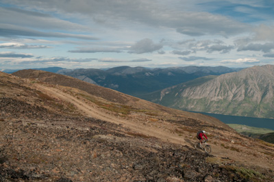 The track was steep and rough going but big on scenery.