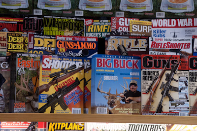 I noticed there were more gun and hunting magazines in Prince George than bike magazines...