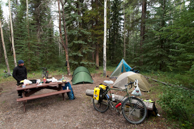 Cyclists unite! Or at least, share camping spots and save cash.