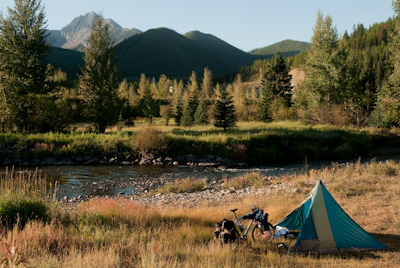 The Canadian segment of the ride is full of wild camping spots like this.