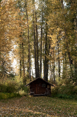 Romantic rustic cabins abound in Polebridge.