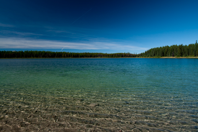 Half way up, we dropped down to Clearwater Lake, for a picnic lunch and a cooling dip.