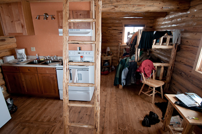The cabin was built by an Amish community last year. It's rock solid, and beautifully finished.