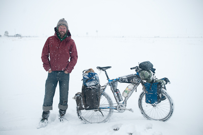 A few hours ago. About to set off for Lima, just down the road, and still smiling.