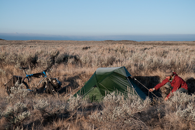 Camping amongst the sagebrush.
