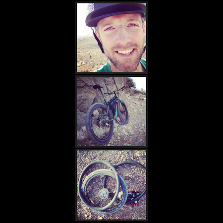 The Franklin Mountains State Park is home to all manner of prickly things, with inevitable consequences. The sooner I go tubeless, the better...