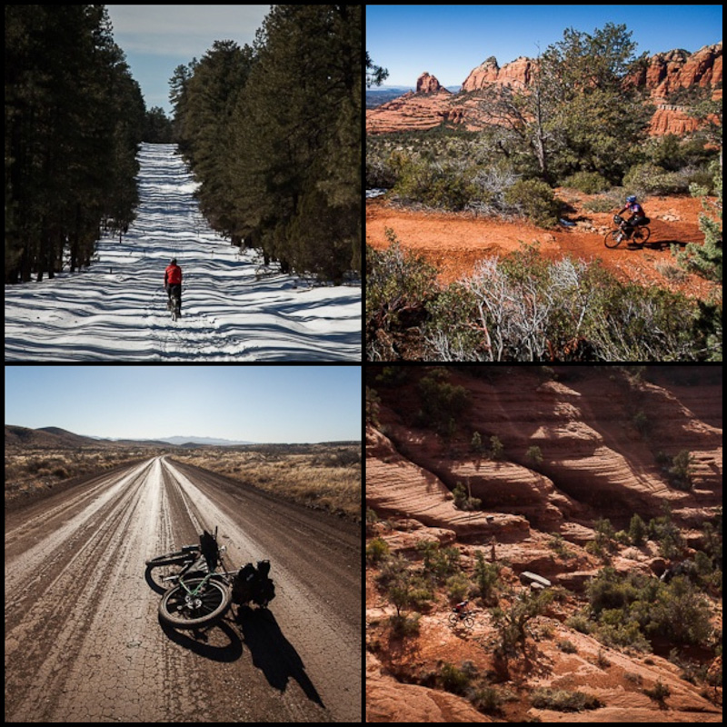 5 days of breathtaking riding, from snow to red rock to desert...