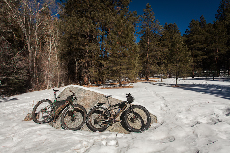 The next day, Jeremy and Iheaded into the Santa Fe National Forest to see how the Krampus and the Neck compared, riding Dale Ball, Chamisa and Windsor Trails.