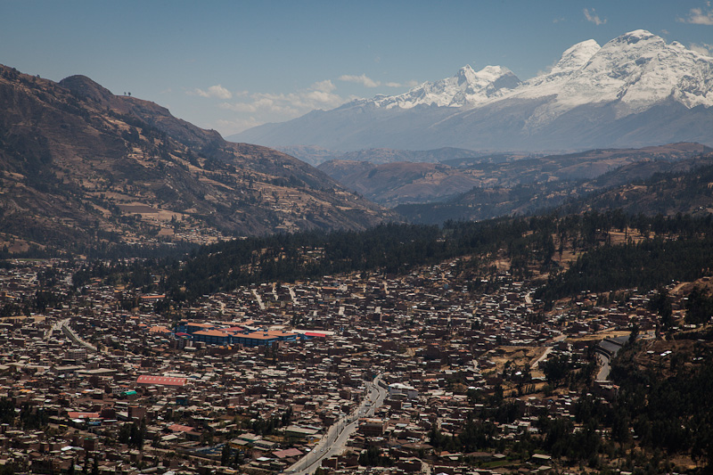 Rising quickly above Huaraz.