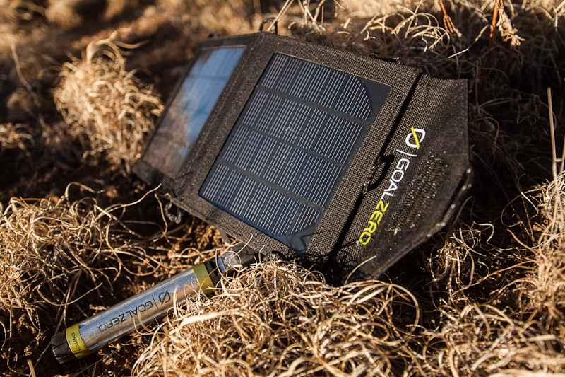 Tim is a collector of biking and hiking gear. On this trip, I tried out his XXX solar panel.