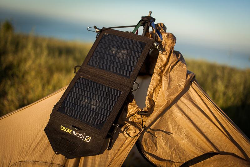 Goal Zero solar panel.