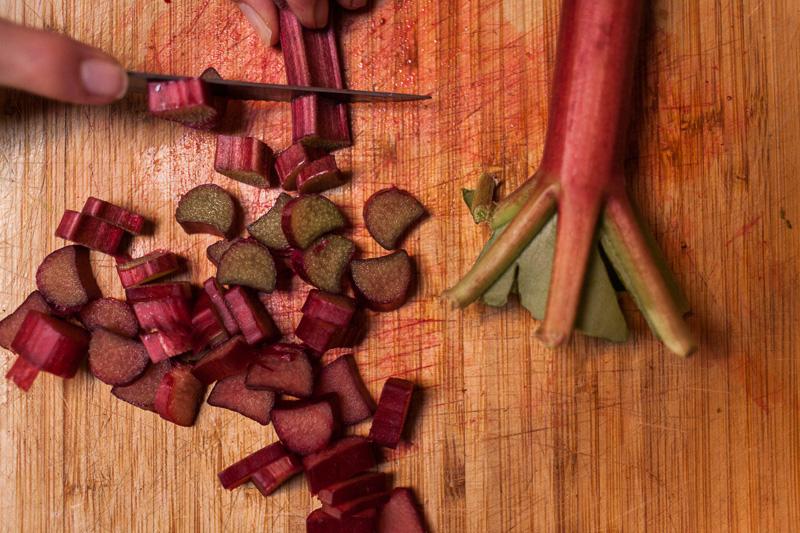 Chop rhubarb. Done.
