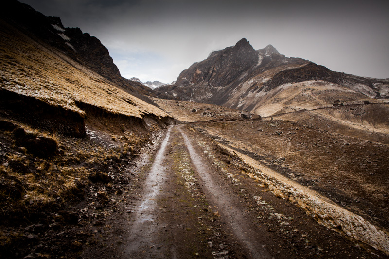 The beautiful, stark mining roads of Peru's high Andes.